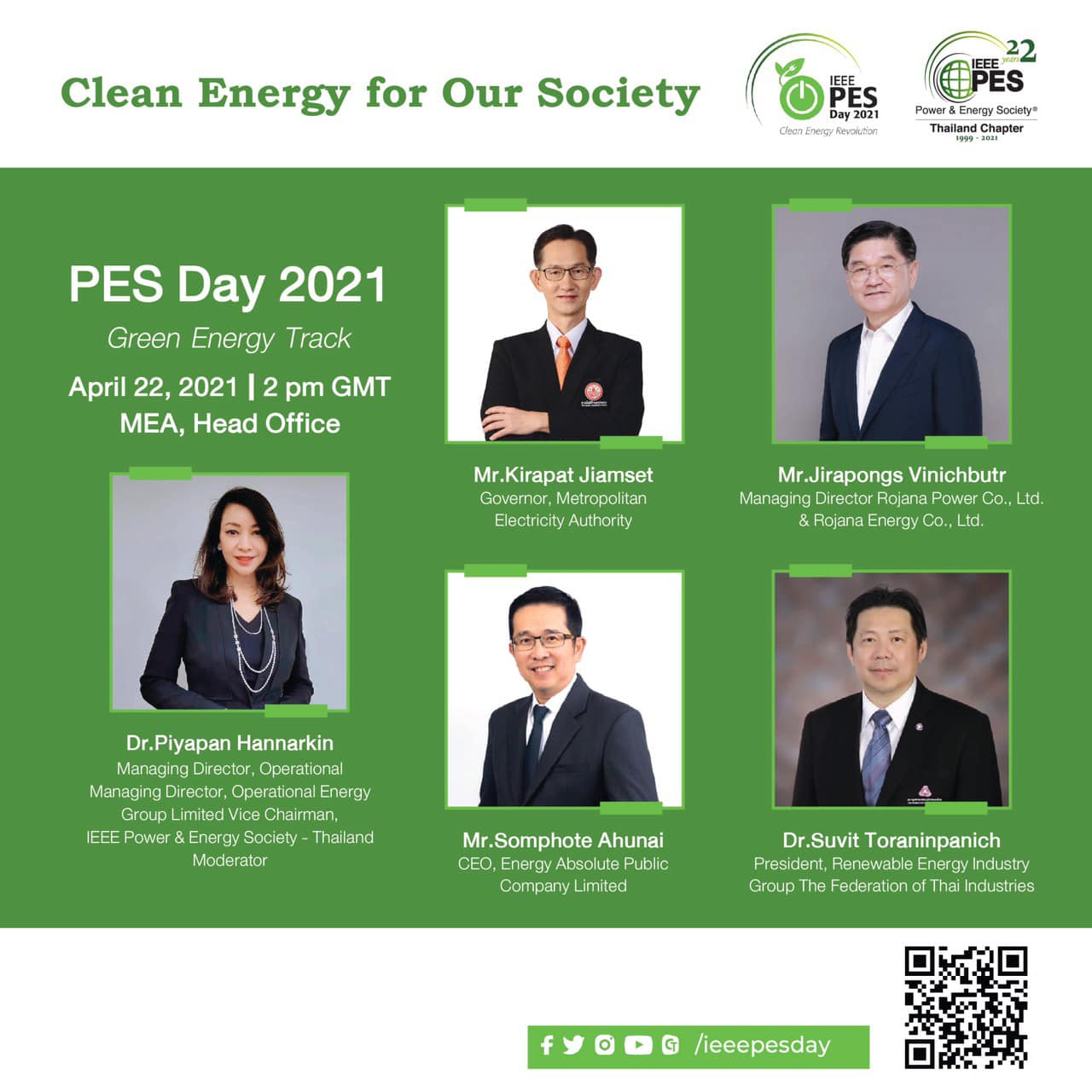 PES Day 2021 Green Energy Talk