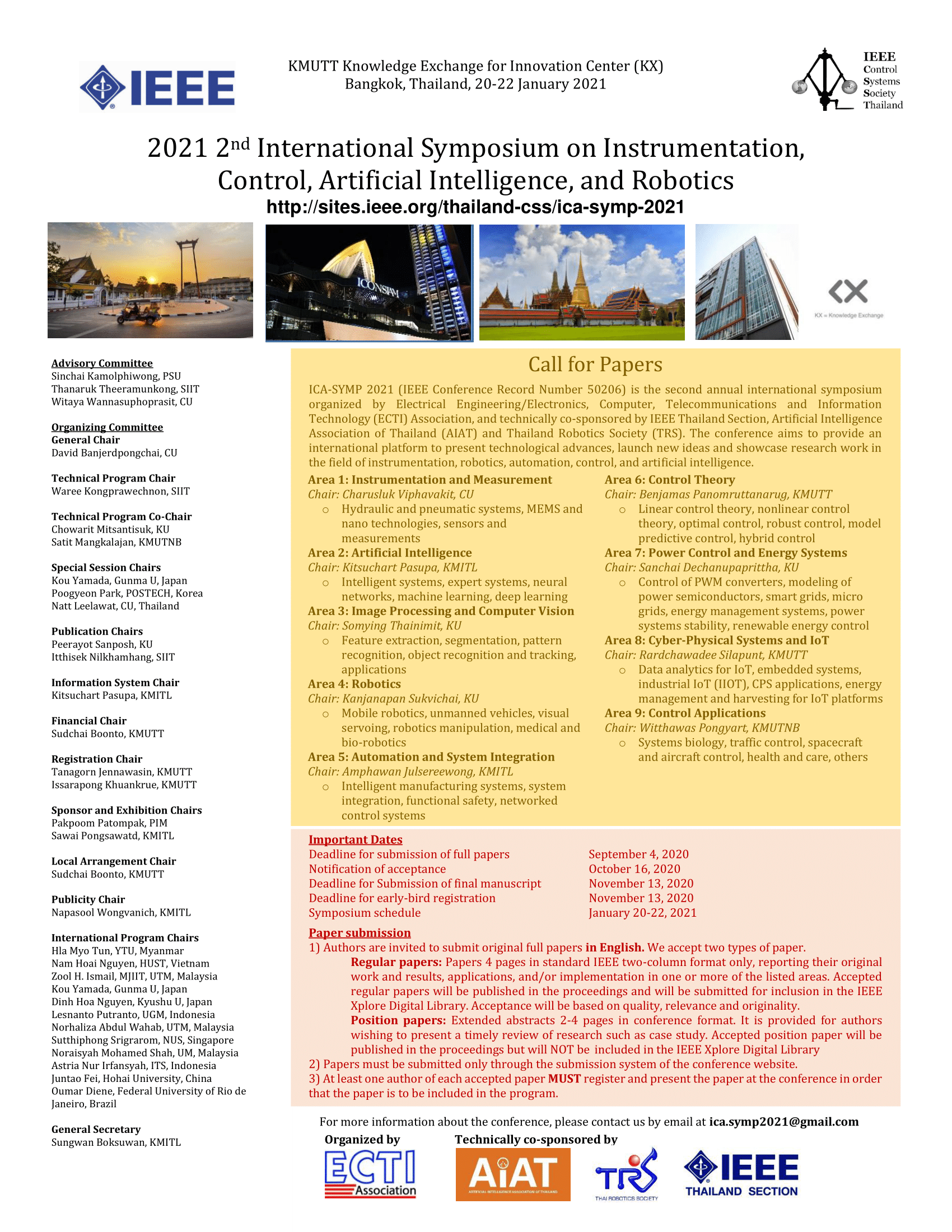 The 2021 2nd International Symposium on Instrumentation, Control, Artificial Intelligence, and Robotics (ICA-SYMP 2021)